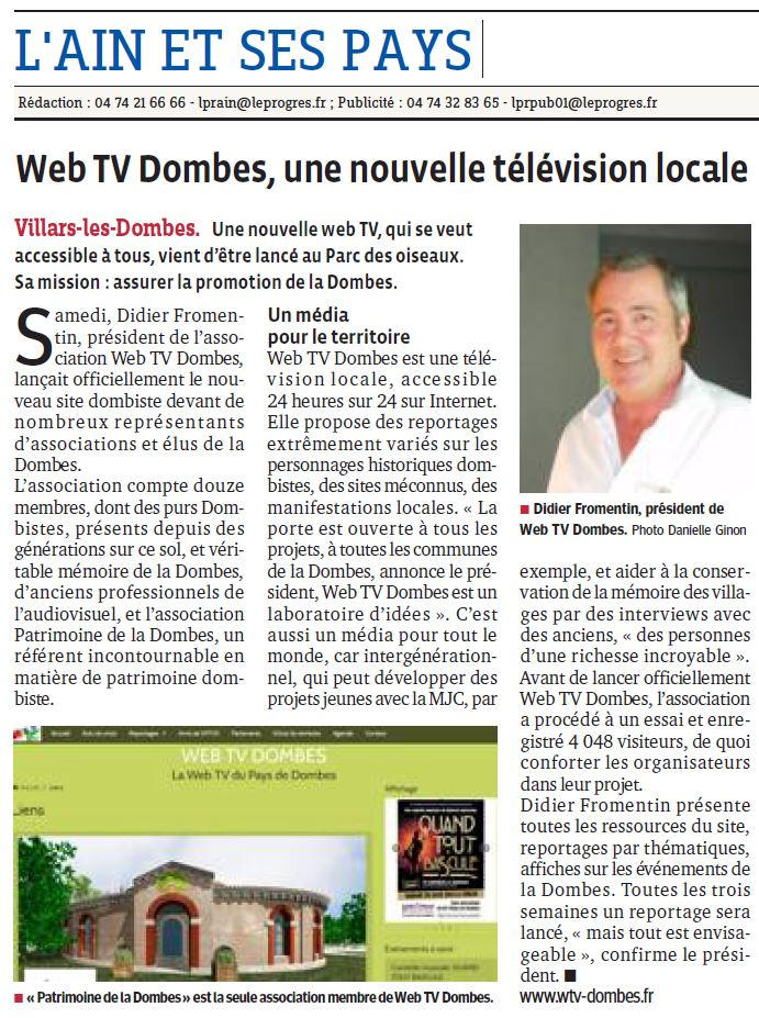 Web tv dombes 13 avril 2014